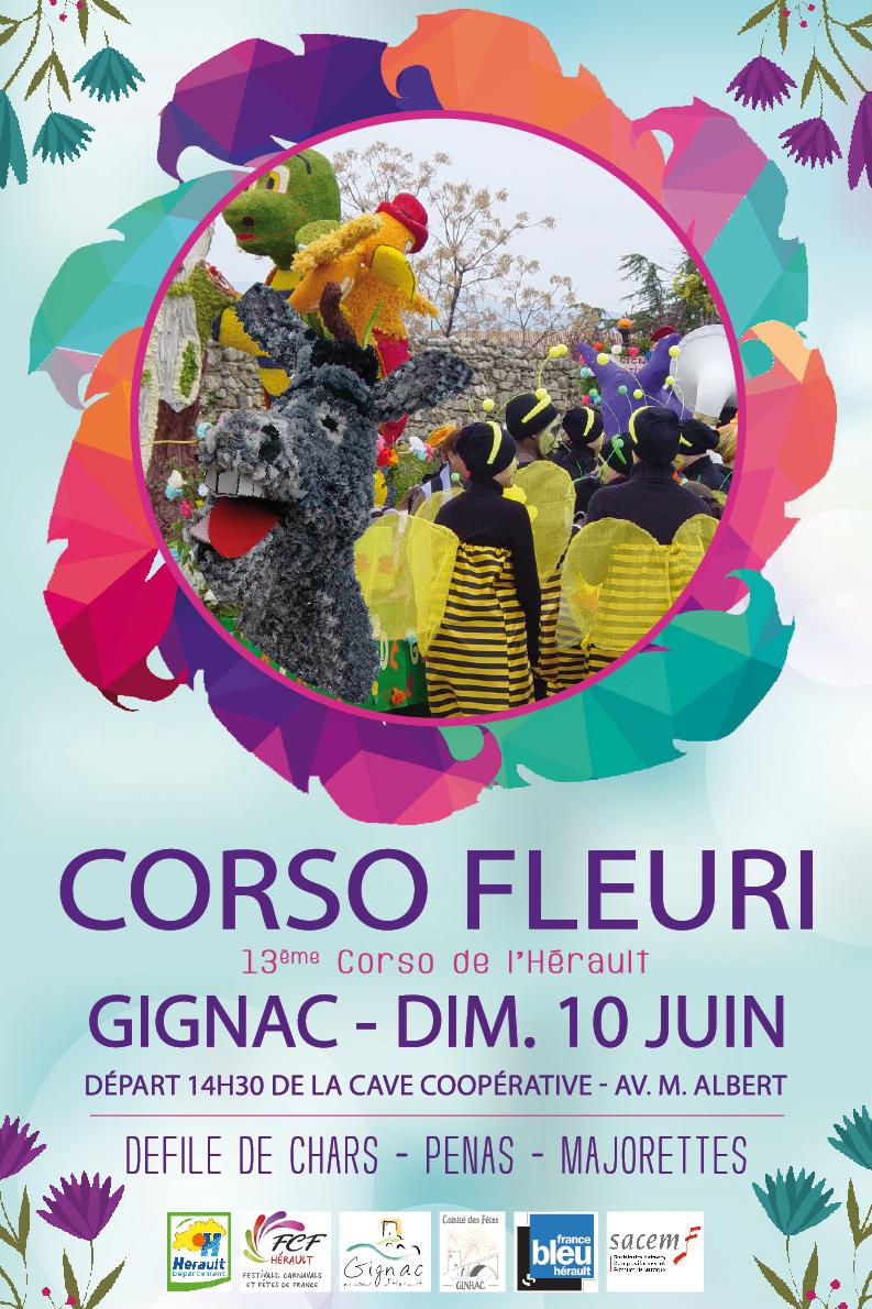 Affiche corso fleuri 10 juin 2018